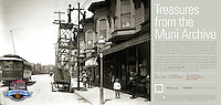 Pole Painting Wagon on Mission St | August 7, 1905  | Treasures from the Muni Archive at the SFO International Terminal