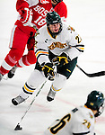 9 January 2011: University of Vermont Catamount defenseman Anders Franzon, a Sophomore from Plattsburgh, NY, in action against the Boston University Terriers at Gutterson Fieldhouse in Burlington, Vermont. The Catamounts fell to the Terriers 4-2 in Hockey East play. Mandatory Credit: Ed Wolfstein Photo