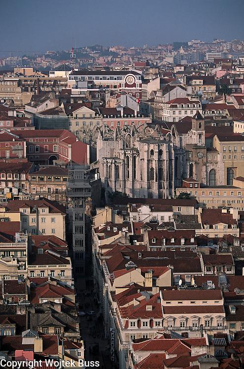 Portugal,Lisbon,general view of Caramel church from Castelo Sao Jorge