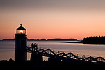 Marshal Point Light sunset, Port Clyde, Mid-coast ME