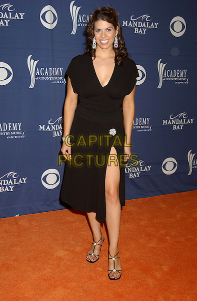 LAUREN LUCAS.The 40th Annual Academy of Country Music Awards (ACM) held at Mandalay Bay Resort & Casino, Las Vegas, Nevada, USA, 17 May 2005..full length black dress leg split slit.Ref: ADM.www.capitalpictures.com.sales@capitalpictures.com.©Laura Farr/AdMedia/Capital Pictures.