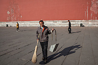A worker at the Forbidden City.