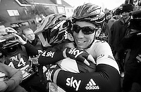 Kuurne-Brussel-Kuurne 2012<br /> Cav &amp; Hunt sharing joy