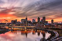 Saint Paul Minnesota skyline from Dayton's Bluff.