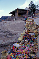Tarahumara Indian handicrafts for sale at the Divisidero lookout, Copper Canyon, Chihuahua, Mexico