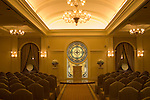 Nevada, NV, Las Vegas, city, wedding chapel, Tuscano, Caesars Palace Hotel and Casino, altar, stained glass, Photo nv276-17087. .Copyright: Lee Foster, www.fostertravel.com, 510-549-2202,lee@fostertravel.com