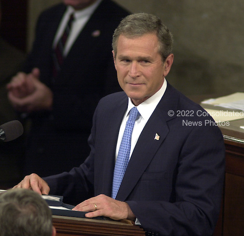 Washington, DC - September 20, 2001 -- U.S. President George W. Bush spoke before a Joint Session of Congress to detail his plan to combat terrorism..Credit: Ron Sachs / CNP