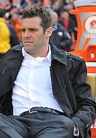 D.C. United head coach Ben Olsen during the presentation of the team. The Columbus Crew defeated D.C. United 2-1 ,at RFK Stadium, Saturday March 23,2013.
