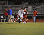 Oxford High's Dylan Rytheil (6) vs. Neshoba Central in MHSAA playoff soccer action in Oxford, Miss. on Tuesday, January 22, 2013. Oxford won 3-1.