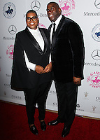 BEVERLY HILLS, CA, USA - OCTOBER 11: EJ Johnson, Magic Johnson arrive at the 2014 Carousel Of Hope Ball held at the Beverly Hilton Hotel on October 11, 2014 in Beverly Hills, California, United States. (Photo by Celebrity Monitor)
