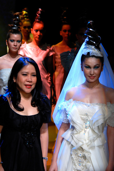 Yoswadee's Fusion and Glamour collection by designer Pusdee Muntarphorn at the Bangkok International Fashion Week