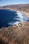 USA. California. Big Sur. Aerial of Pt. Sur Lighthouse...