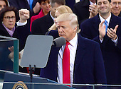 Donald J. Trump completes his Inaugural Address after being sworn-in as the 45th President of the United States on the West Front of the US Capitol on Friday, January 20, 2017.<br /> Credit: Ron Sachs / CNP<br /> (RESTRICTION: NO New York or New Jersey Newspapers or newspapers within a 75 mile radius of New York City)