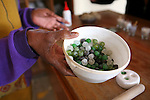 Africa, Namibia, Windhoek. Recycled glass beads made by the women at Penduka development cooperation organization in Namibia.