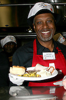 James Pickens Jr at the LA Mission Thanksgivng Feeding of the Homeless in    Los Angeles, CA.November 26, 2008.©2008 Kathy Hutchins / Hutchins Photo....