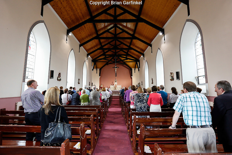 Caulfields during mass at Saint Patrick's Church in Granlahan, County Roscommon, Ireland on Tuesday, June 25th 2013. (Photo by Brian Garfinkel)