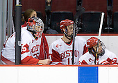 Grant Rollheiser (BU - 35), Patrick MacGregor (BU - 11), Max Nicastro (BU - 7) - The Boston University Terriers defeated the visiting University of Toronto Varsity Blues 9-3 on Saturday, October 2, 2010, at Agganis Arena in Boston, MA.