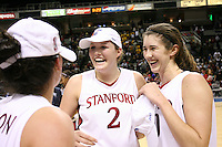 5 March 2007: Jayne Appel and Brooke Smith during Stanford's 62-55 win over ASU in the finals of the women's Pac-10 tournament championship at HP Pavilion in San Jose, CA.