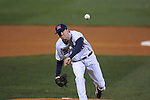 Ole Miss' Matt Crouse (20) pitches in the first inning against Tulane at Oxford-University Stadium in Oxford, Miss. on Friday, March 4, 2010.