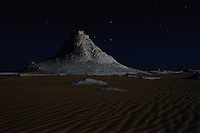 The White Desert on a brilliant moonlit night