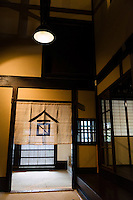 """The entrance of the Tsukinokatsura sake brewery, Fushimi, Kyoto, Japan, October 10, 2015. Tsukinokatsura Sake Brewery was founded in 1675 and has been run by 14 generations of the Masuda family. Based in the famous sake brewing region of Fushimi, Kyoto, it has a claim to be the first sake brewery ever to produce """"nigori"""" cloudy sake. It also brews and sells the oldest """"koshu"""" matured sake in Japan."""
