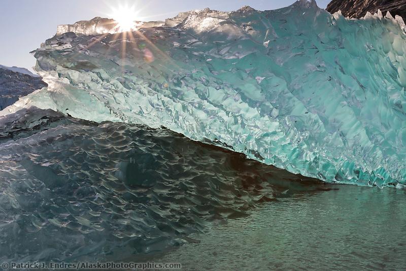 Icebergs from Nellie Juan glacier, Nellie Juan Lagoon, Prince William Sound, Chugach National Forest, Kenai Peninsula, southcentral, Alaska.