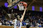 27 January 2013: Duke's Haley Peters (33) shoots a layup. The Duke University Blue Devils played the Boston College Eagles at Cameron Indoor Stadium in Durham, North Carolina in an NCAA Division I Women's Basketball game. Duke won the game 80-56.