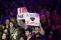 Moscow, Russia, 07/03/2011..Fans of Azerbaijani rock singer Emin Agalarov at a concert at the Rai nightclub. Agalarov has released 5 albums, and his first UK album &quot;Memory&quot; is due for release. He is also the commercial director of the Crocus International company, founded by his father Aras, and married to Leila Alieva, daugher of Azerbaijan President Ilkham Aliev.