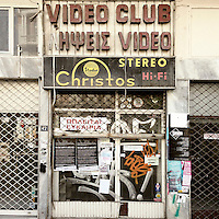 A closed down video rental shop on Filippou Street.