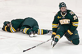 Michael Paliotta (UVM - 2), Caylen Walls (UVM - 26) - The Boston College Eagles defeated the University of Vermont Catamounts 4-1 on Friday, February 1, 2013, at Kelley Rink in Conte Forum in Chestnut Hill, Massachusetts.