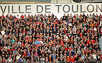 A general view of the Toulon crowd. European Rugby Champions Cup match, between RC Toulon and Bath Rugby on January 10, 2016 at the Stade Mayol in Toulon, France. Photo by: Patrick Khachfe / Onside Images