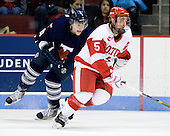 Matt Walters (Toronto - 11), David Warsofsky (BU - 5) - The Boston University Terriers defeated the visiting University of Toronto Varsity Blues 9-3 on Saturday, October 2, 2010, at Agganis Arena in Boston, MA.