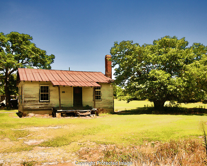 This cabin is just a short ways away from the little town of Wagener, SC. It is very much typical of the size and shape of late 18th century and early-mid 20th century sharecroppers cabins that were found in most of the SouthEast US. You'll notice that I have a B&W copy of this photo. Which do you like best?
