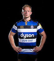 Will Homer poses for a portrait at a Bath Rugby photocall. Bath Rugby Media Day on August 24, 2016 at Farleigh House in Bath, England. Photo by: Rogan Thomson / JMP / Onside Images