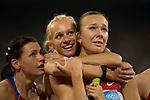 Women's 4x100m relay, Russia -gold, National Stadium, Summer Olympics, Beijing, China, August 22, 2008
