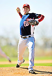 1 March 2010: Washington Nationals' relief pitcher Drew Storen on the mound during Spring Training at the Carl Barger Baseball Complex in Viera, Florida. Mandatory Credit: Ed Wolfstein Photo