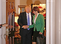 United States President-elect Donald Trump (L) greets Congresswoman Cathy McMorris from Washington State at the clubhouse of Trump International Golf Club, in Bedminster Township, New Jersey, USA, 20 November 2016.<br /> Credit: Peter Foley / Pool via CNP /MediaPunch