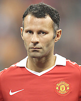 Ryan Giggs #11 of Manchester United during the 2010 MLS All-Star match against the MLS All-Stars at Reliant Stadium, on July 28 2010, in Houston, Texas. Manchester United won 5-2.