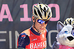 Vincenzo Nibali (ITA) Bahrain-Merida at sign on in Arbatax before the start of Stage 3 of the 100th edition of the Giro d'Italia 2017, running 148km from Tortoli to Cagliari, Sardinia, Italy. 7th May 2017.<br /> Picture: Eoin Clarke | Cyclefile<br /> <br /> <br /> All photos usage must carry mandatory copyright credit (&copy; Cyclefile | Eoin Clarke)