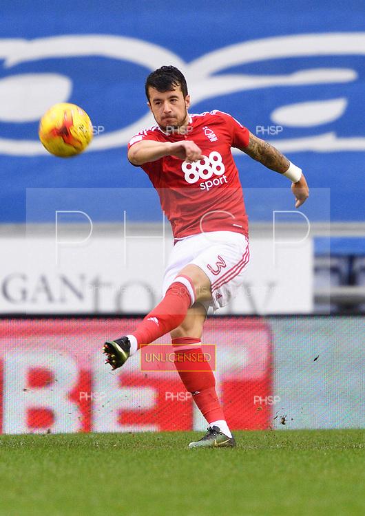 25/02/2017 Sky Bet Championship Wigan Athletic v Nottingham Forest<br /> <br /> Daniel Pinillos, Nottingham Forest FC
