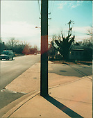"Washington, DC - February 20, 2001 -- ""Lewis"" signal site - .Wooden Utility Pole located at the North-West corner of the intersection of 3rd Street and Carlin Springs Road near the metrobus stop in Vienna, Virginia..Credit: FBI via CNP"
