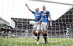 Clint Hill celebrates his goal with Kenny Miller