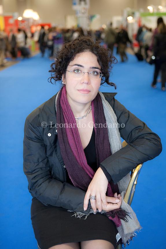 2010, Benedetta Tobagi, writer, laureata in filosofia, Salone del libro internazionale, Torino,  © Leonardo Cendamo