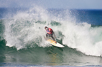 Andy Irons (HAW) runner up. The 2005 Billabong Pro at Jeffreys Bay, Eastern Cape, South Africa. The event was won by Kelly Slater (USA) in the dying seconds of the final. Slater defeated arch rival Andy Irons (HAW). Photo joliphotos.com