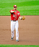 6 June 2010: Washington Nationals' third baseman Ryan Zimmerman in action against the Cincinnati Reds at Nationals Park in Washington, DC. The Reds edged out the Nationals 5-4 in a ten inning game. Mandatory Credit: Ed Wolfstein Photo