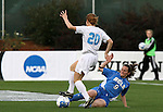 1 December 2006: North Carolina's Heather O'Reilly (20) is challenged by UCLA's Bristyn Davis (9). The University of North Carolina Tarheels defeated the University of California Los Angeles Bruins 2-0 at SAS Stadium in Cary, North Carolina in an NCAA Division I Women's College Cup semifinal game.
