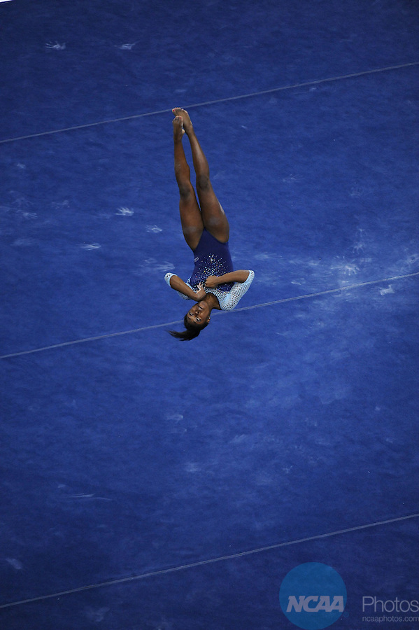 21 APR 2012:  Olivia Courtney of UCLA performs her floor routine during the Division I Women's Gymnastics Championship held at the Gwinnett Center Arena in Duluth, GA. Alabama placed first with a team score of 197.850. Joshua Duplechian/NCAA Photos