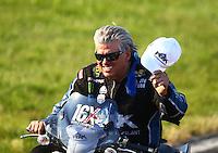 Jun 11, 2016; Englishtown, NJ, USA; NHRA funny car driver John Force during qualifying for the Summernationals at Old Bridge Township Raceway Park. Mandatory Credit: Mark J. Rebilas-USA TODAY Sports