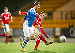 St Johnstone v Aberdeen.....30.01.13      SPL.Rowan Vine is tackled by Mark Reynolds.Picture by Graeme Hart..Copyright Perthshire Picture Agency.Tel: 01738 623350  Mobile: 07990 594431