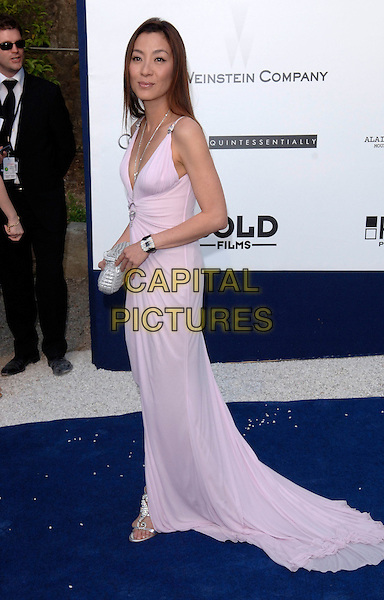 MICHELLE YEOH.Arrivals at amfAR's Cinema Against Aids benefit at Moulins de Mougins, Cannes. .59th International Cannes Film Festival, France .25th May 2006.Ref: FIN.full length purple dress .www.capitalpictures.com.sales@capitalpictures.com.© Capital Pictures.